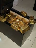 Gold bars,nugget,flakes and dust gold