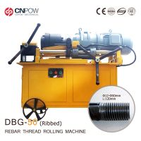 CNPOW  12mm-50mm rebar ribbed thread rolling machine for steel bar 200mm