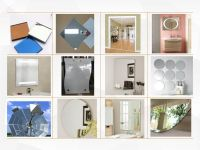 4mm Aluminum Silver Mirror Glass Sheet Edge Polished Dressing Bathroom