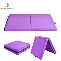 Manufacture wholesale durable 2 folding gymnastic sport mat
