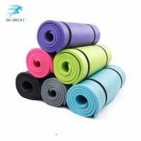 Hot-selling Multi-functional tasteless 10mm thickened long NBR yoga mat