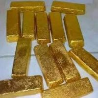 Gold Bars And Rough Uncut