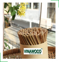 US Standard for Coffee, Restaurant, Shop Bamboo Reusable Drinking Straws