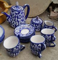 Ceramic Tea Set, Royal Blue Color