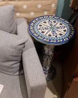 Elegant Round Central Table, Ceramic