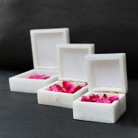 marble box inlay with semi precious stone
