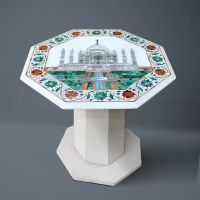 HANDCRAFTED CENTRAL TABLE INLAY WITH SEMI PRECIOUS STONE
