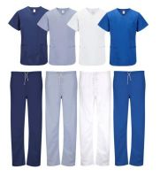 Doctor Uniforms Medical Nursing Scrubs Uniform Clinic Scrub Sets Short Sleeve Tops+Pants Uniform