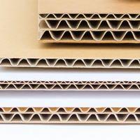 Cardboard for flat layers