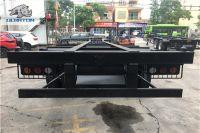 Skeleton Container Transport Semi Truck Trailer