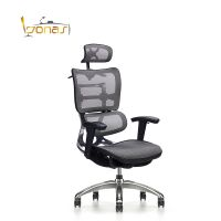 aluminum frame Ergonomic office executive mesh chairs with adjustable armrest