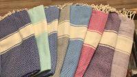 Colorful, Thin, Quick Drying Peshtemal ( Turkish Towel)