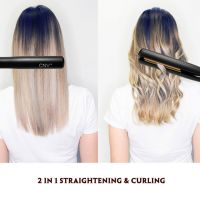 CNV Hair Straightener 2 and 1 Flat Iron Twist Straightening Iron for Hair Styling Curler 3D Ceramic Titanium Plated for All Hair