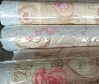 """Waterproof Tablecloth with Flannel backing and 3"""" Lace Borders"""