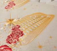 Golden embossed oilcloth for Restaurant