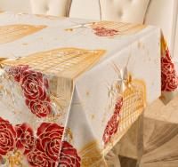 Golden embossed oilcloth for Restaurant