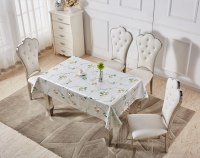 Metal embossed priting Tablecloth