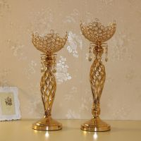 5 arm Crystal Candle Holder Wedding Candelabra Centerpieces Center Table Candlesticks