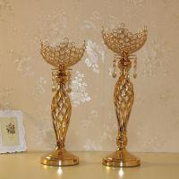 5 arm Crystal Candle Holder Wedding Candelabra Centerpieces Center Table Candlesticks