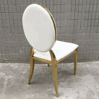 Wholesale gold round back stainless steel wedding chairs