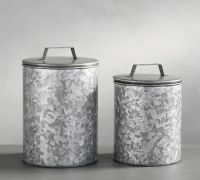 Essential Kitchen Storage 3-Piece Metal Canister Set