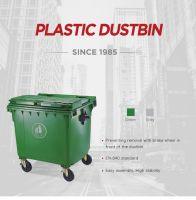1100 L industrial 4 wheels garbage trash bin waste container