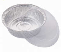 Aluminium foil container round kitchen plates with lid