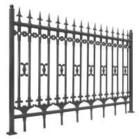 New design galvanized steel metal cheap fence