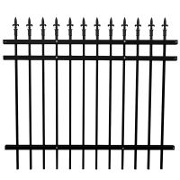 Best selling steel tubular fence hot sale iron fence