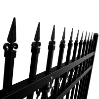 Waterproof Power Coated Wall Boundary Steel Grills Fence