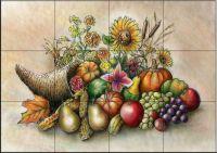 Cornucopia Tile Mural - Decorative Tile for Kitchen & Bath