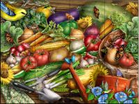 Farmer's Market Tile Mural - Decorative Tile for Kitchen & Bath