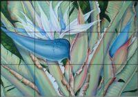 Tropical Beauty Tile Mural - Decorative Tile for Kitchen & Bath