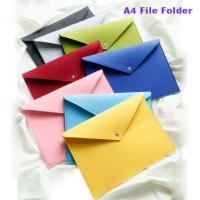 Polyester Felt A4 File Size Big Volume Document Pocket Bag