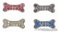 10mm RHINESTONE DOGGIE slider charms for personalized dog collar charm