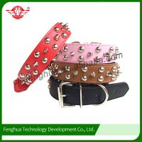 2 rows studs and 1 row spike dog collar for dogs