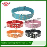3 rows Crystal rhinestone dog collar with D-ring at middle for dogs
