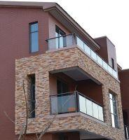 frameless steel glass design safety balcony fence