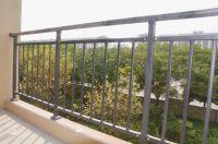 3-Rail practical safety steel railing designs metal balcony fence