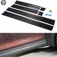 KM for Cayenne Dry carbon fiber door trims door moulding side skirts side trims