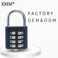 Digital Safety Padlock With pull button For Luggage Combination Padlock xmmm8030