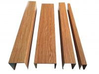 U - type wood - grain aluminum square tube manufacturers