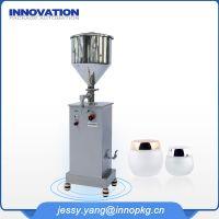 Semi auto cosmetic cream filling machine