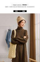 Tang shi 2019 winter new dress half high collar mahua retro long hair