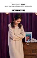 Tang shi autumn winter knee - length dress