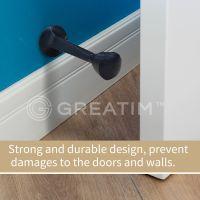 Greatim GT-DS-2, 3 inch Door Stop, Zinc Alloy, ORB, 5pcs Package
