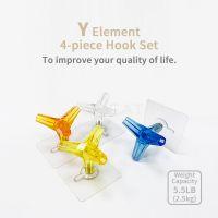 Y Element Adhesive Hook Set/4pcs/4Colors
