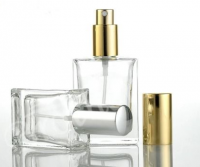 Factory price oblate rectangle glass spray 30ml 50ml 100ml clear glass perfume bottle