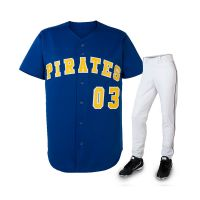 Wholesale Sublimation Baseball Jerseys With Full Botton