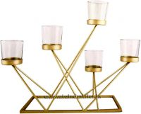 Candelabra Non Tarnish Metal Candle Holde